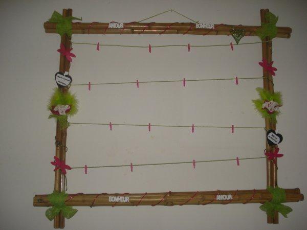 Cadre photo en bambou pour des 20 ans de mariage ma plus grande passion - Quoi fabriquer avec des bambous ...