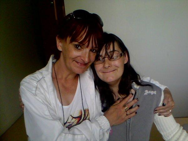 moi et ma fille titia je taime ta maman