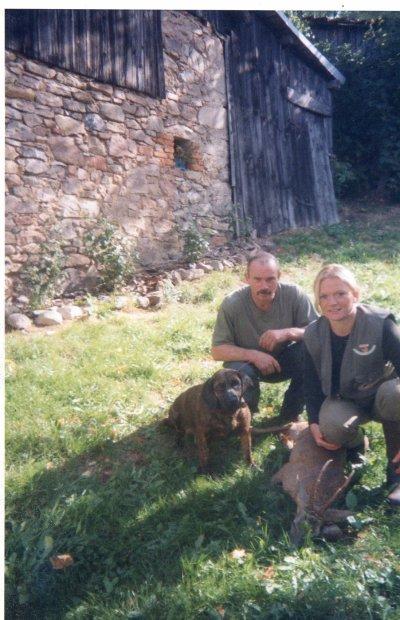 Petit hommage à mon chien Nutz 14ans de travail en commun!!!! Belle équipe tout les 2 en forêt.....