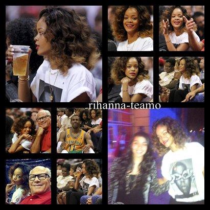 26 Janvier ~ Rihanna assiste à un match de basket à Los Angeles