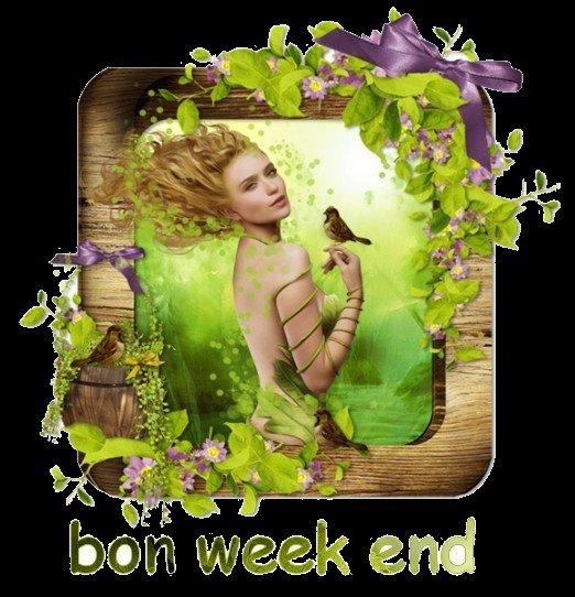 (l)  bon week-end   (l)