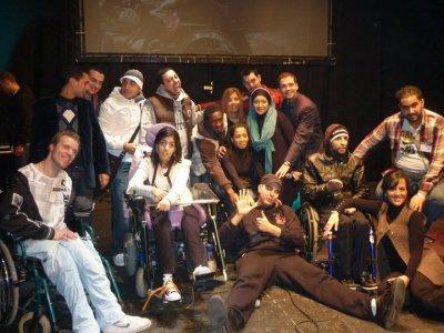 la famille le 6e sens à la journée intenationale de l'handicap à l'abbaye de forest
