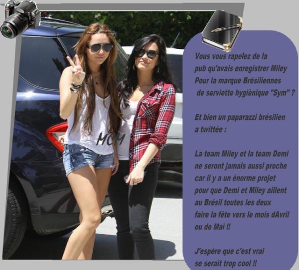 Miley et Demi peut -être a nouveau réuni !!!!