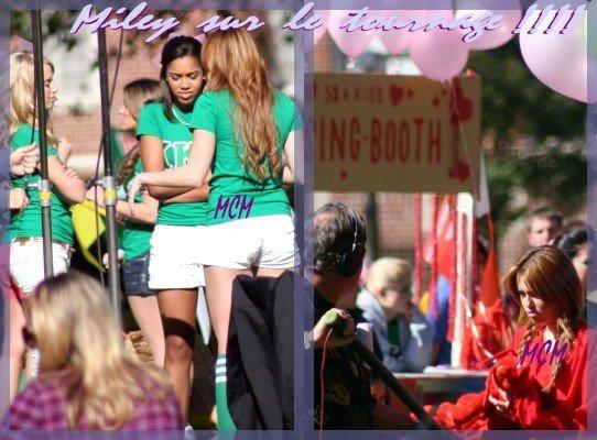 Miley le 8 Janvier sur le tournage de So Undercover !!!!