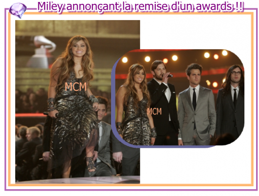 Miley aux Grammy awards !!!!
