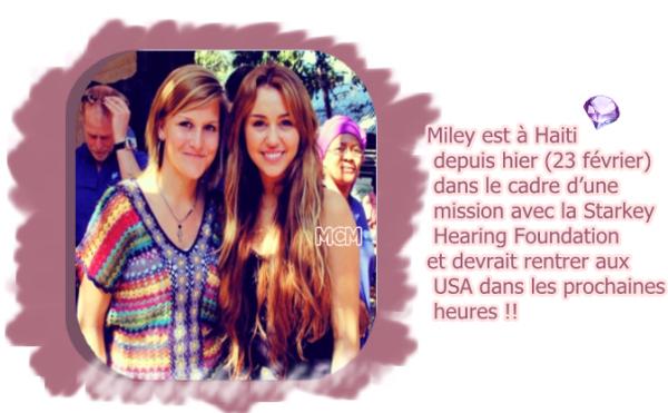 Miley à Haïti !!!!