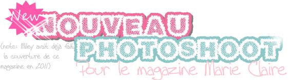 Photoshoot pour le magazine Marie Claire + Miam fiancés + BA de Lol !!!!