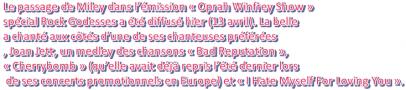 """Miley dans """" Oprah Winley Show"""" !!!!"""