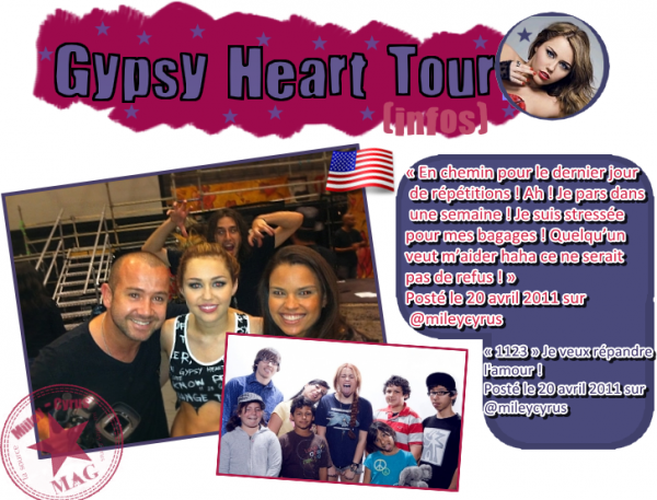 Tweets et photos du Gypsy herat Tour !!!!