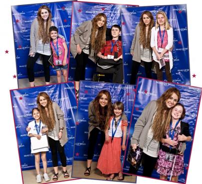 Candids du 21 Avril de la famille Cyrus + Recontre avec des enfants entre 2 répétitions !!!!