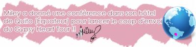 Miley à une conférence pour le Gypsy Heart Tour + Twitter !!!!
