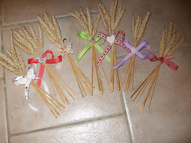 bouquets de 7 épis de blés porte-bonheur