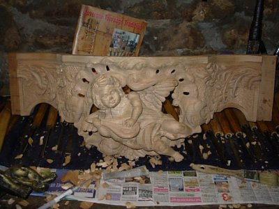 la console louis XV des anges
