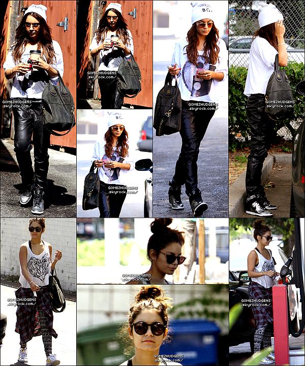 """05/08/13 - Vanessa quittant son cours de pilate et le salon de beauté """"NINE ZERO ONE"""" CET ARTICLE : Vanessa allant à ses cours de gym habituelle (+) Sortant se promener (+) Selena allant à l'hôpital en Californie."""