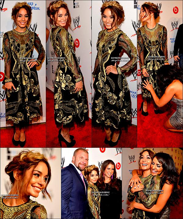"""15/08/13 - Vanessa présente à un événement organisé par E! & WWE """"Superstars for hope"""" CET ARTICLE : Première date pour la tournée """"Stars Dance World Tour 2013""""  (+) Selena à l'aéroport de LAX (+) News de Vanessa."""