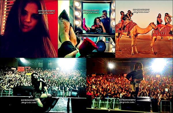 """27/09/13 - Vingt-deuxième concerts pour """"Stars Dance Tour"""" à Dubai en Arabie Saoudite CET ARTICLE : Selena se rendant à des soirées tout en continuant sa tournée (+) Vanessa faisant du sport (+) à une soirée."""