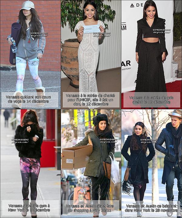RATTRAPAGE de toutes les news de Selena & Vanessa du mois de décembre.