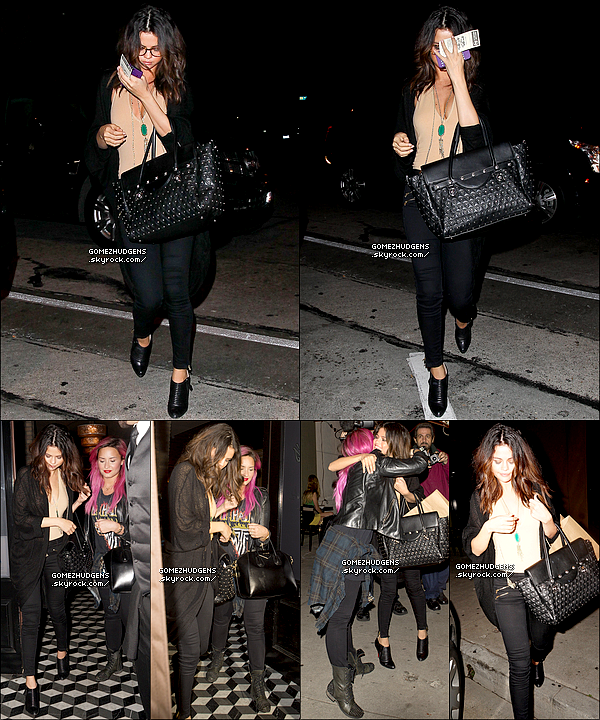 "24/01/14 - Selena accompagnée d'Ashley Benson à la soirée BEATS music au Belasco Theatre. CET ARTICLE : Selena de sortie avec Demi Lovato (Delena 4ever) (+) Vanessa enchaîne les interviews pour ""Gimme Shelter""."