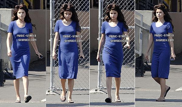 03 Août, Selena sur le tournage de son nouveau film