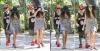 En ce beau dimache 12 Août très ensoleillé, Selena & Justin ont été aperçu se promenant à côté de la maison de la chanteuse. Tenue décontracté, je lui mets un bof :) Stylé le chapeau :P♥