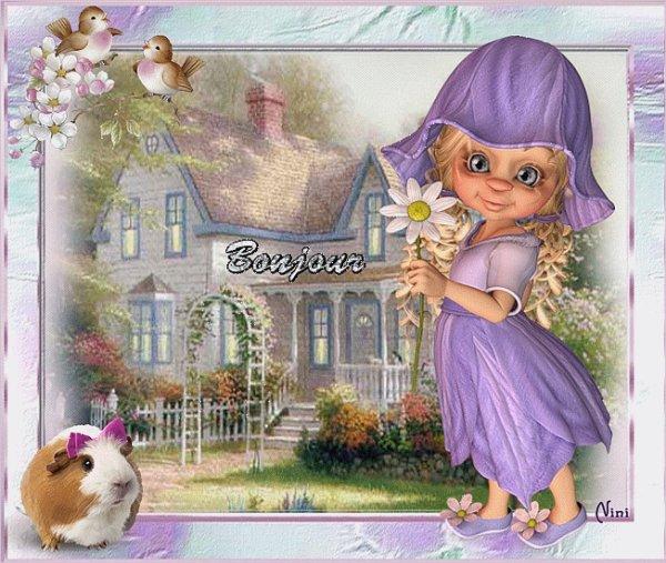 bonjour je vous souhaite une journee malgrez se froid une journee pleint de petits bonheur bissous amitier alain