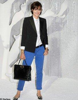 Le Pantalon Bleu Eléctrique : En mode Jessica Biel