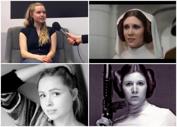 """l'actrice qui a """"joué"""" Leia dans Rogue One"""
