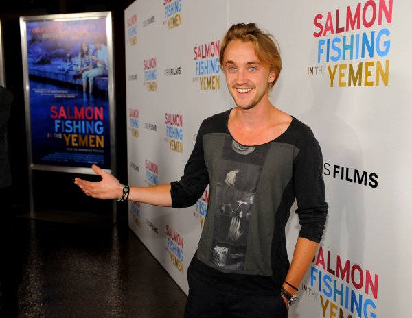 "Tom Felton le 5 Mars 2012 à l'avant première du film ""Salmon Fishing in Yemen."