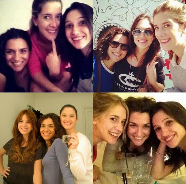 Lodovica, Clara, Alba et Candelaria en photo !