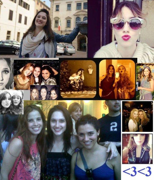 Lodovica, Alba, Candelaria, Martina, Valéria, Clara et Mercedes en montage photos ! <3