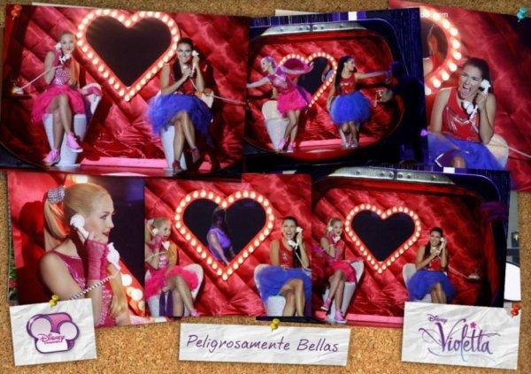 Montage sur Peligrosamente bellas de l'épisode 40 de Violetta 2 ! <3