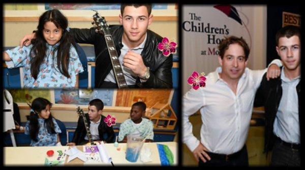 Nick Jonas a été interviewé par Ryan Seacrest & s'est rendu à The Children's Hospital de Montefiore