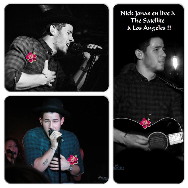 Nick Jonas en live à Los Angeles - Vidéos + Photos