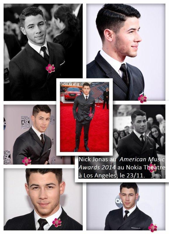 Nick Jonas aux American Music Awards à Los Angeles !!