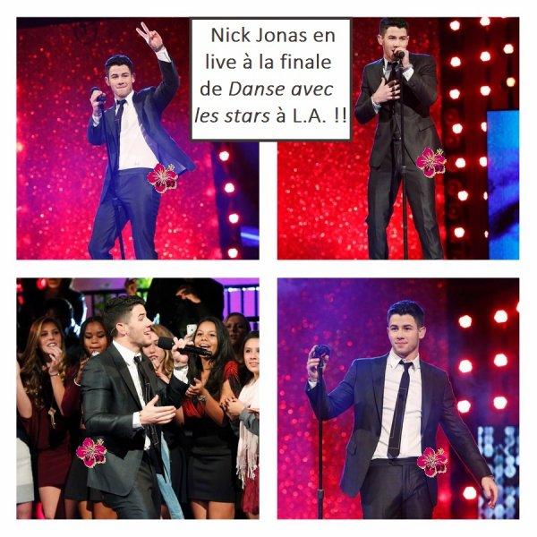 ↓ Nick Jonas à la finale de Danse avec les stars !!! + Interviews du chanteur