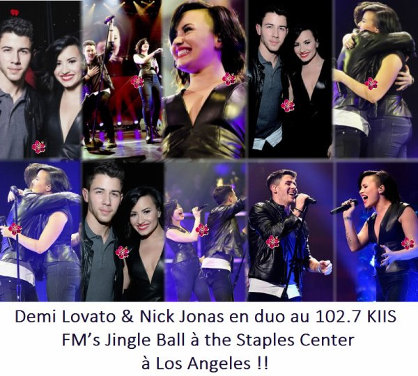 Demi Lovato & Nick Jonas interprètent Avalanche au 102.7 KIIS FM's Jingle Ball !!
