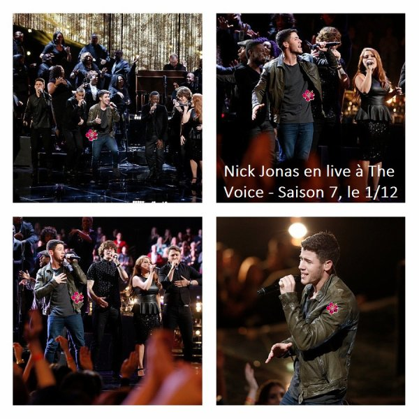 → Nick Jonas en live à The Voice & au Freecember + Interviews