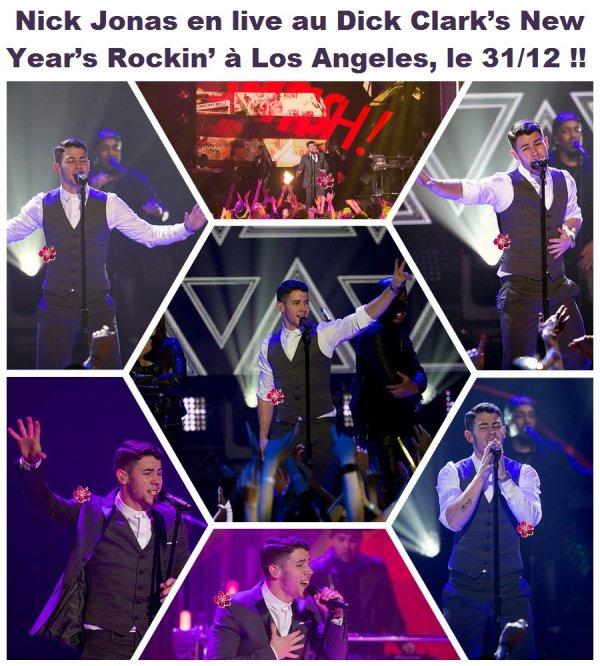 → Nick Jonas en live pour fêter le nouvel an + Interviews !!