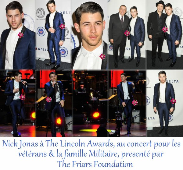 ▬ NEWS sur Nick Jonas ▬ Interview, photoshoots & concert à The Lincoln Awards ▬