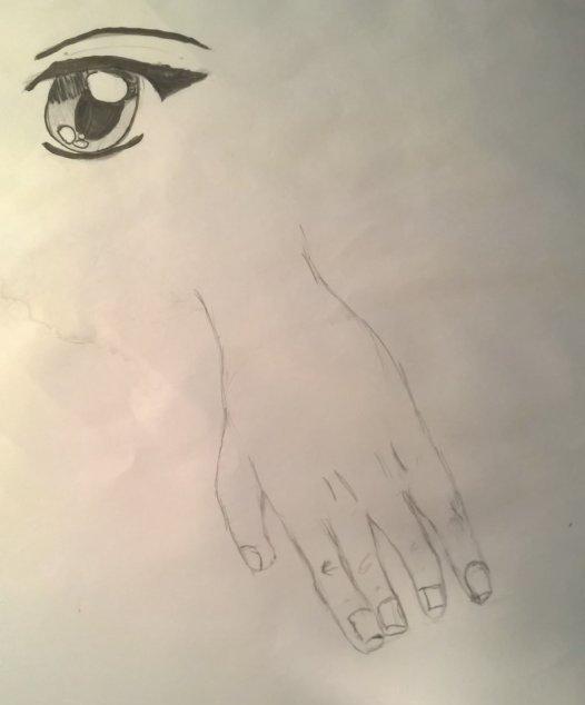 Dessin anatomie: oeil et main
