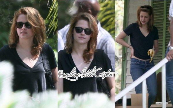 Kristen est en Nouvelle-Orléans pour les besoins du tournage de son prochain film « On The Road ».