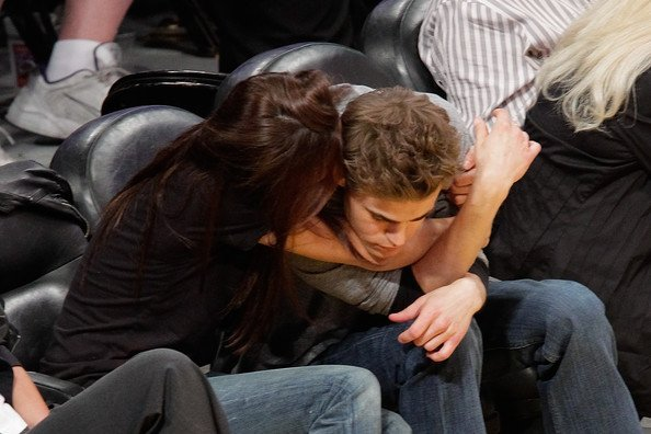 """""""The Vampire Diaries"""" Stars at The Lakers Game"""