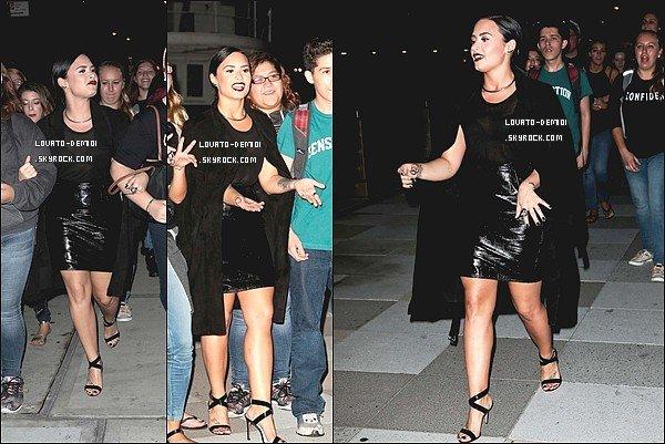 """29/09/15 - Demi a été aperçue dans la rue, filmant son clip vidéo """"Confident""""."""