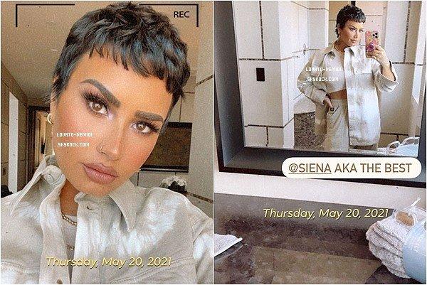20 & 21 mai 2021 - Retrouvez quelques photos de Demi à travers son propre réseau social instagram
