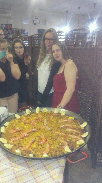 Une soirée paella pour faire oublier un peu la fin des stages des jeunes de Pozzoblanco