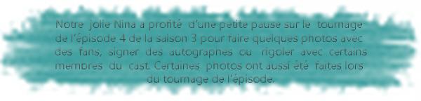 * Photos réalisées sur le set de TVD.*