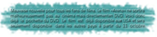 """* Sortie du film """"Arena"""" en DVD.*"""