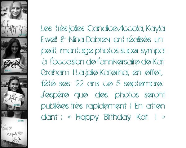 * Happy Birthday Kat Graham ! ♥*