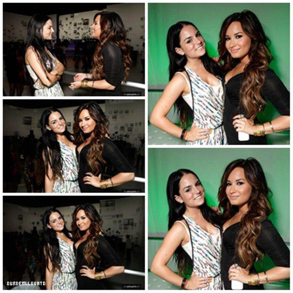 """19.07.2011 : Demi Lovato au """"  HTC Status Social Launch Event """"avec Usher"""