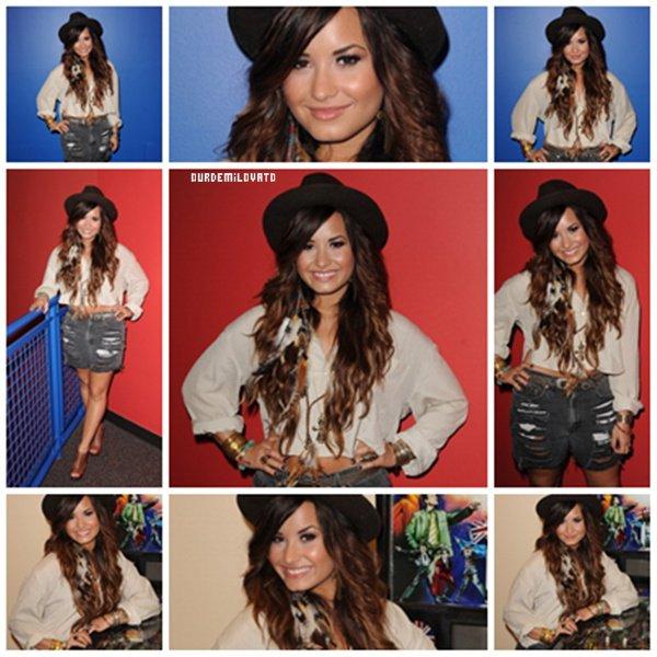 26.07.2011 : Demi Lovato a la radio Y100 ( Miami )